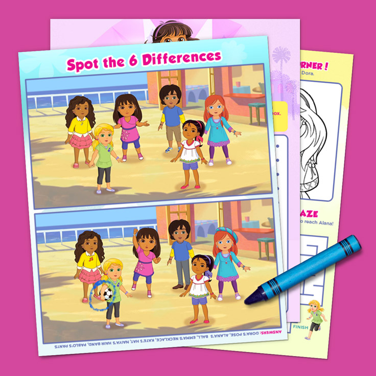 Dora and Friends Activity Pack