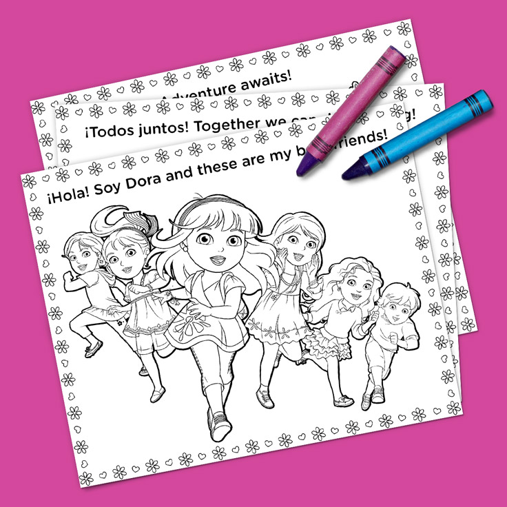 Dora And Friends Coloring Pack Nickelodeon Parents