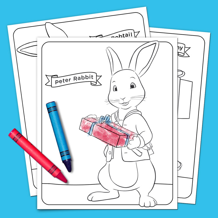 Peter Rabbit Holiday Coloring Pack