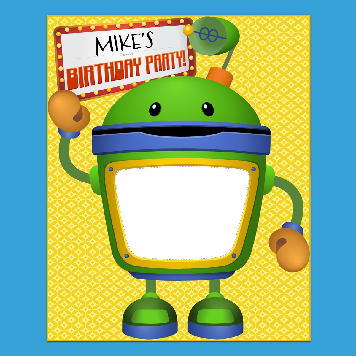 Umizoomi Party Bot Poster