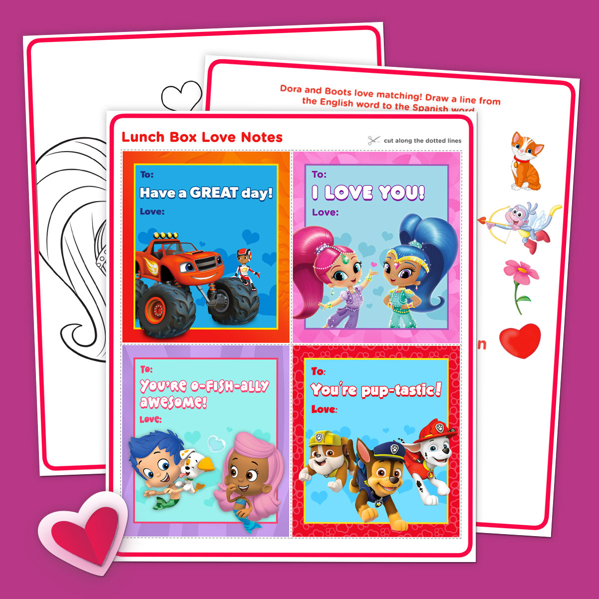 Exclusive Nick Jr. Fan Club Valentine's Day Activity Pack