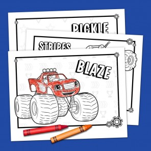 Blaze and Friends Coloring Pack