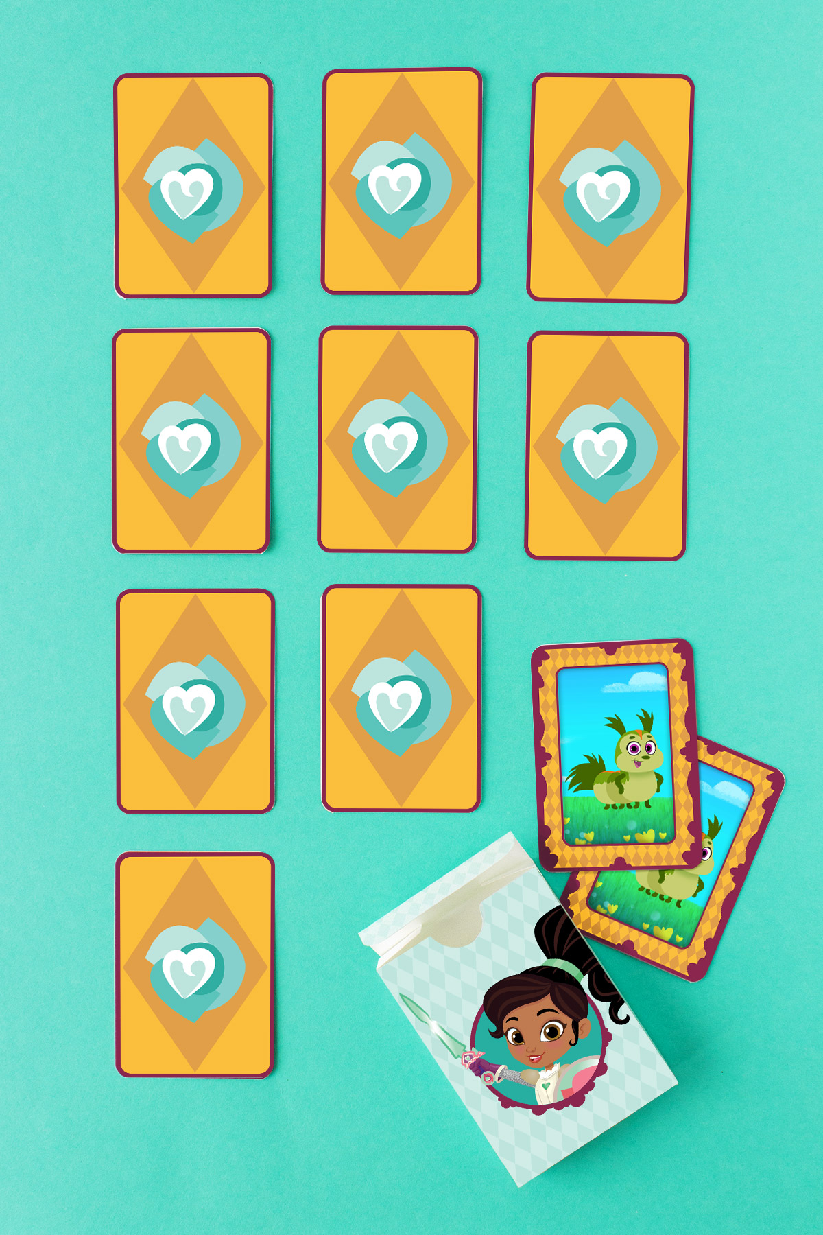 Nella Dragon Card Matching Game
