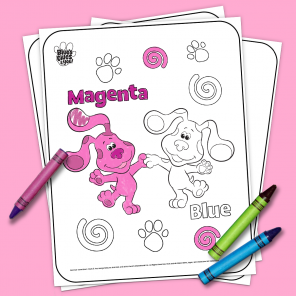 Blue's Clues & You Printable Coloring Page