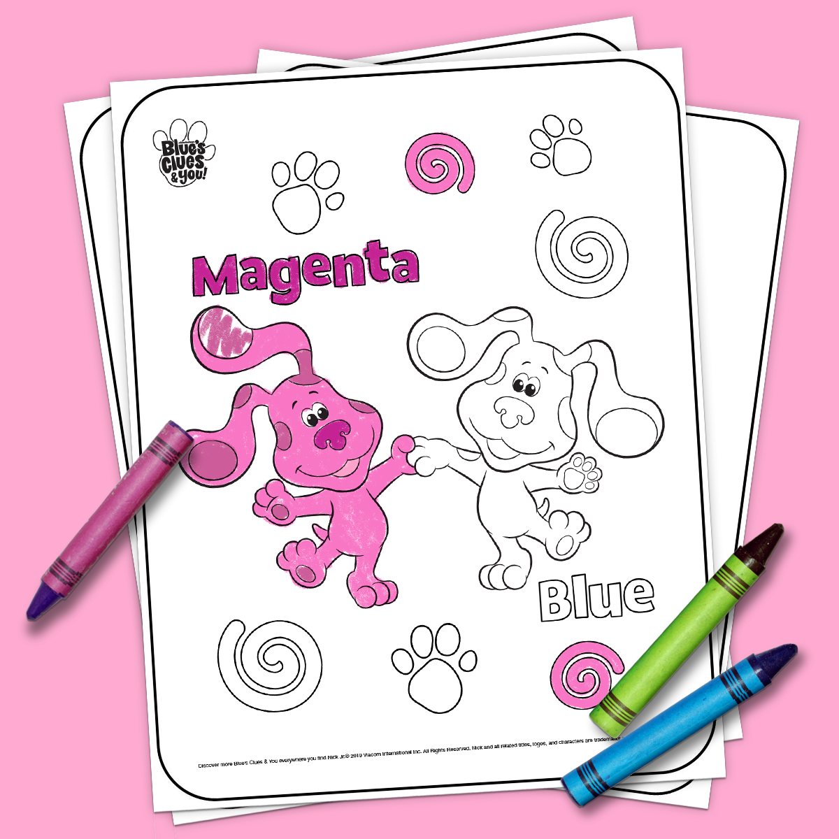 Magenta & Blue coloring pages