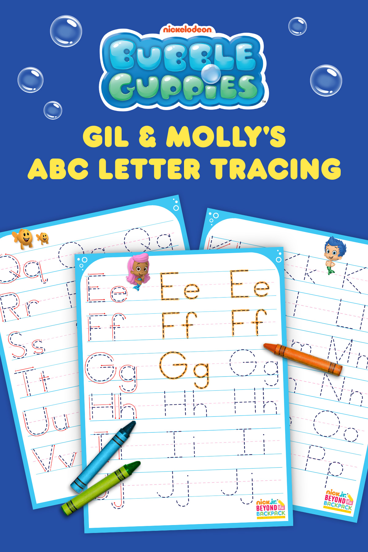 Bubble Guppies Letter Tracing