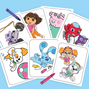 Giant 25-Page Nick Jr. Coloring Pack