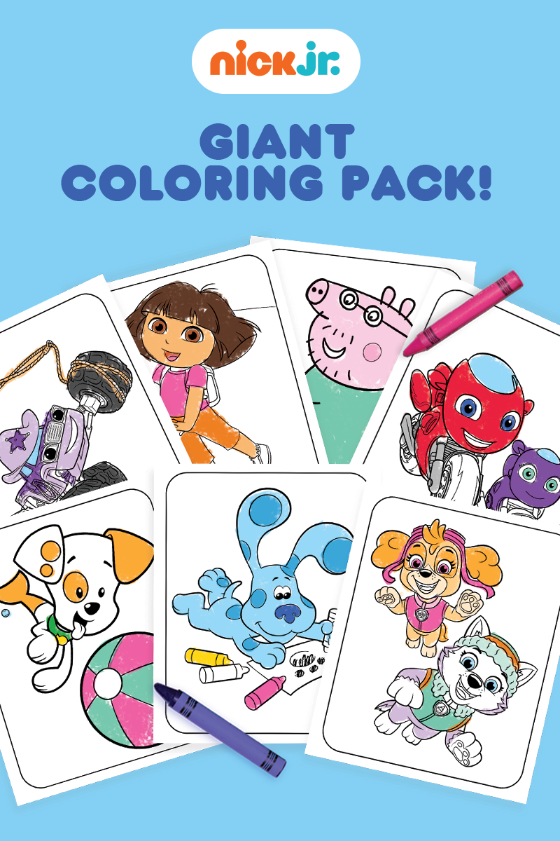 Nick Jr. Giant Coloring Pack