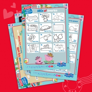 Peppa Pig Visits America Activity Pack