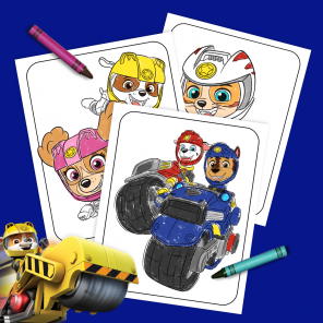 PAW Patrol Moto Pups Coloring Pages