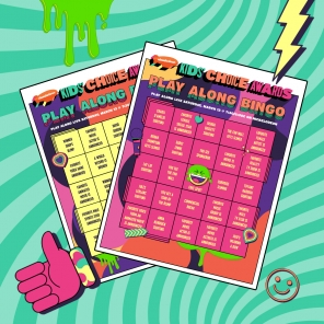 Kids' Choice Awards Watch and Play Bingo