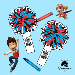 PAW Patrol Live At Home Printable Pom Poms